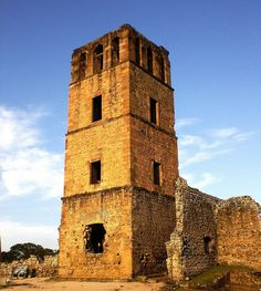 Panama Viejo, Panama. A wealthy and thriving city, founded  in August of 1519, was invaded and sacked by the pirate Henry Morgan in 1671. These ruins are now a Historic Site and the oldest Spanish settlement on the Pacific. A must see on a tour of Panama.