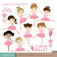 Little Ballerina Digital Clipart Ballet Clipart by LittleMoss
