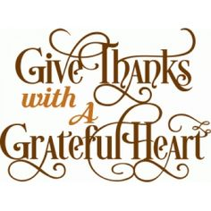 Silhouette Design Store - View Design #101432: give thanks with a grateful heart