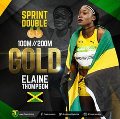 Elaine Thompson  takes the SPRINT DOUBLE after WINNING Women's 200M Final in 21.79. #TeamJamaica