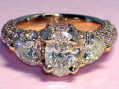 Custom Diamond Ring by Ken Robson, custom made to the owner's specs.