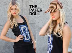 striped hat //www.thepaperdoll.biz