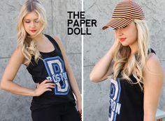 striped hat //www.thepaperdoll.biz