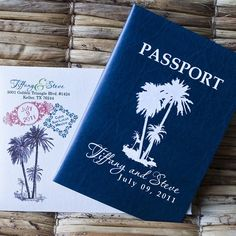 @Anette Gustafsson Gustafsson Gustafsson Gustafsson Gustafsson Weiner: perfect passport invite /save the date for a tropical wedding?:-)
