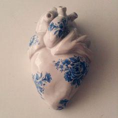 Imagem de heart, art, and blue