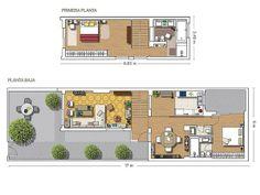 Plano de la casa unifamiliar