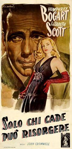 DEAD RECKONING (1947) - Humphrey Bogart - Lizabeth Scott - Columbia Pictures - Insert Movie Poster.