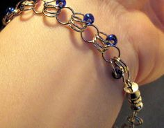 These Peas Taste Funny: Blue and Silver Bracelet