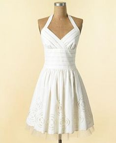 informal wedding dress or rehearsal dress