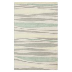 Stylishly anchor your living room seating group or master suite ensemble with this hand-tufted wool rug, showcasing abstract striping in neutral hues. ...