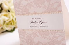 DIY Wedding Invitation- Vintage, Lace Invite Could also use idea for place cards, table numbers, etc.