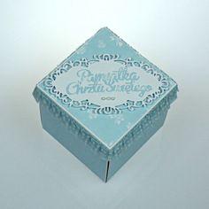 Pudełko z życzeniami na chrzest dla chłopca Decorative Boxes, Container, Decorative Storage Boxes