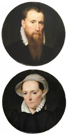 Flandres, vers 1575. Portrait d'un homme et Portrait d'une femme. Panneaux, diamètre 22,8 cm | Fondation Custodia