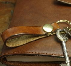 personalised leather key ring by tanner bates | notonthehighstreet.com