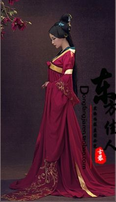 Yu Meng rouge Tang Costume taille haute Ruqun Tang Costume palais ménage photographie ou TV Costume de jeu pour les femmes dans Danse chinoise folklorique de Nouveauté et une utilisation particulière sur AliExpress.com | Alibaba Group