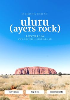 An essential guide to uluru (ayers rock) australia & new zea World Travel Guide, Travel Guides, Travel Tips, Travel Deals, Budget Travel, Ayers Rock Australia, Travel Photographie, Australia Travel Guide, Australia Trip