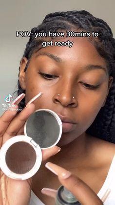 Makeup For Black Skin, Black Girl Makeup, Girls Makeup, Maquillage Black, Maquillage On Fleek, Dope Makeup, Baddie Makeup, Edgy Makeup, Pretty Makeup