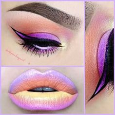 Beauty Tip on Perfect multicolor lip and eye ombre by lecxi bolden. Check out more Makeup on Bellashoot. Love Makeup, Makeup Inspo, Makeup Art, Makeup Inspiration, Makeup Tips, Beauty Makeup, Makeup Looks, Fun Makeup, Glam Makeup