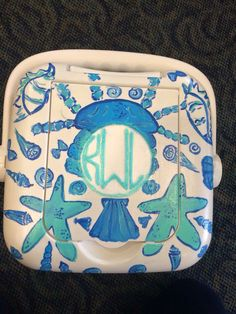 Lilly Pulitzer inspired monogram cooker lid