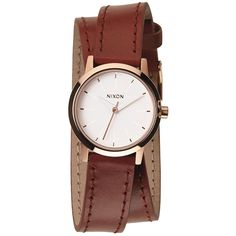 Nixon A4031233 Women's The Kenzi Wrap White Dial Brown Leather Strap Watch >>> Click on the image for additional details.