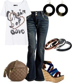 """""""jean casual"""" by outfits-de-moda2 on Polyvore"""