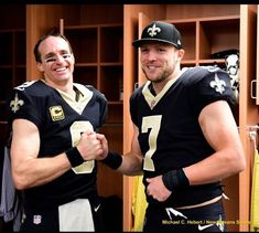 Oh how i love these two men-Drew Brees and Taysom Hill New Orleans Saints 2018 - Even though he's the string QB, Taysom has made a rep as a special teams standout! Saints Players, Nfl Saints, New Orleans Saints Football, Best Football Team, Football Fans, Football Season, Football Girls, Fan Army, Football Conference