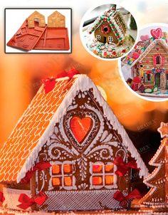 Форма силиконовая для выпечки «ПРЯНИЧНЫЙ ДОМИК» АРТИКУЛ: TK 0231 Вы в восторге от европейских рождественских ярмарок? Хотите, чтобы и в Вашем доме почаще царила атмосфера волшебства? С помощью силиконовой формы для выпечки «ПРЯНИЧНЫЙ ДОМИК» Вы сможете легко приготовить праздничное лакомство, когда бы Вы ни пожелали!  • Комплект состоит из двух форм, благодаря которым Вы испечете идеальные составляющие пряничного домика, а именно: четыре стены, крышу, дверь, елочку и пару пряничных…