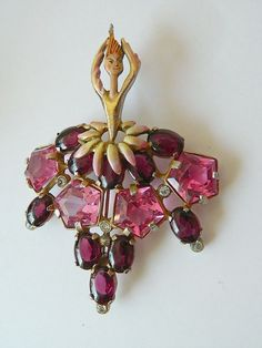 Early 1940's Ballerina pin- Jeweled -very Rare..