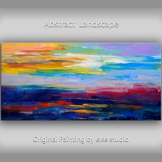 """Huge original Impasto Textured art Abstract Painting oil painting on linen  canvas by Tim Lam 48"""" x 24"""""""