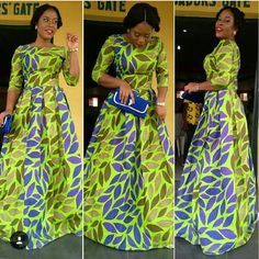 African Print Maxi Gown Dress - African Print Long Dress Latest African fashion, Ankara, kitenge, African women dresses, African prints, African men's fashion, Nigerian style, Ghanaian fashion