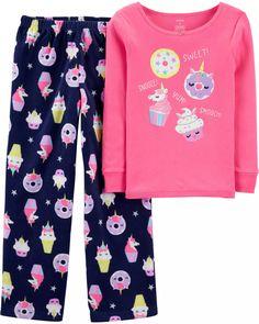 New Carter/'s 3-Piece Polka-Dot Unicorn Pajama Set Girls 6 7 8 12