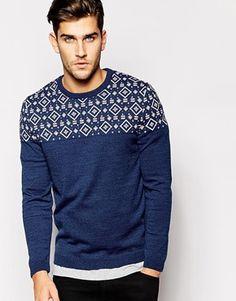 Enlarge ASOS Sweater in Twist with Geo-Tribal Design