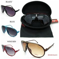 f29aeca0e64a4 2017 Fashion Men Women Retro Sunglasses Colors Unisex Matte Frame Carrera  Glasses + Box