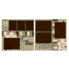 Love My Family  Premade Scrapbook Page Set by SusansScrapbookShack, $27.95