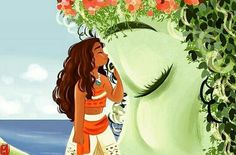 Moana & Te Fiti (unknown artist)