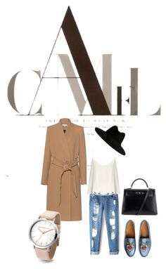 """Camel is the new black"" by manon-bdm on Polyvore featuring mode, IRO, Gucci, Raey, Hermès, Yves Saint Laurent et camelcoat"