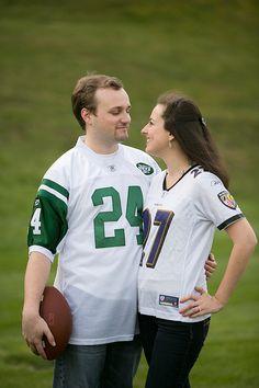 #Engagement #Football #Couple #Photos