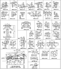 Home Design Drawings Truss Structure Details Autocad, Truss Structure, Steel Structure Buildings, Stairs Architecture, Architecture Details, Foster Architecture, Concept Architecture, Neoclassical Interior, Types Of Steel