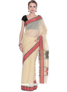 Exquisite Beige Weaving Work Art Silk Classic Designer Saree Model: YOSAR8848