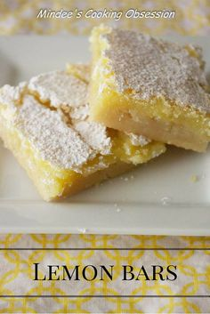 A sweet, lemony filling over a delicate buttery crust. A perfect dessert for spring or summer. Learn the secret to making the best lemon bars every time! via @https://www.pinterest.com/mindeescooking/