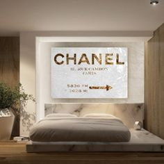 Couture Living, Chanel Sign by @Oliver Gal.  LOVE, LOVE, LOVE!