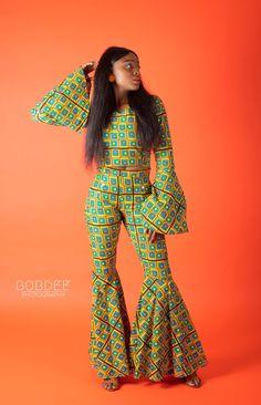 ankara flared top, bell bottoms ankara pants, blogger, bloggerversary, outfitoftheday, Lagos