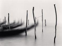Michael Kenna Gondola's, Study 1, Venice, Italy, 1980
