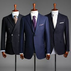 Navy is a wardrobe staple but with so many tones and variations in style, there's always room for more than one navy suit. Dress Suits, Men Dress, Formal Attire For Men, Style Costume Homme, Suit Combinations, Business Professional Outfits, Mode Costume, Melbourne Fashion, Streetwear