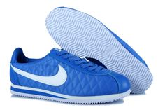 best loved 469f3 913f0 Nike Classic Cortez Nylon Women All Blue White Shoes Cheap Nike Running  Shoes, Buy Nike