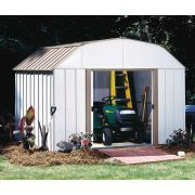 Arrow Lexington Storage Shed: we offer the Arrow Lexington Storage Shed that is produced by Arrow. This barn-like metal shed is the larger of the Lexington storage sheds. For its footprint, this storage shed has tremendous storage capacity und Steel Storage Sheds, Steel Sheds, Outdoor Storage Sheds, Shed Storage, Built In Storage, Easy Storage, Tool Storage, Home Depot Shed, Metal Shed