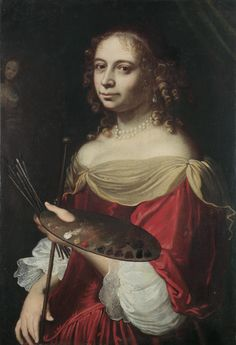 Self portrait of a female painter Bologna 17th century via Wikimedia Commons. Thumbnail for version as of 18:51, 27 October 2011