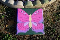 Pink and Purple Butterfly Stepping Stone