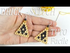 Tuto Bijou en perles tissées -Technique du Brick Stitch avec des perles Hama