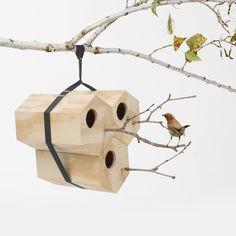 Modular Homes for Feathered Friends by Andreu Carulla for Utoopic Garden Art, Home And Garden, Modular Homes, Diy Interior, Unique Furniture, Scandinavian Design, Bird Houses, Bird Feeders, Wood Art